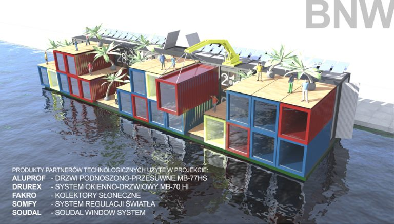 Projekt biura na wodzie