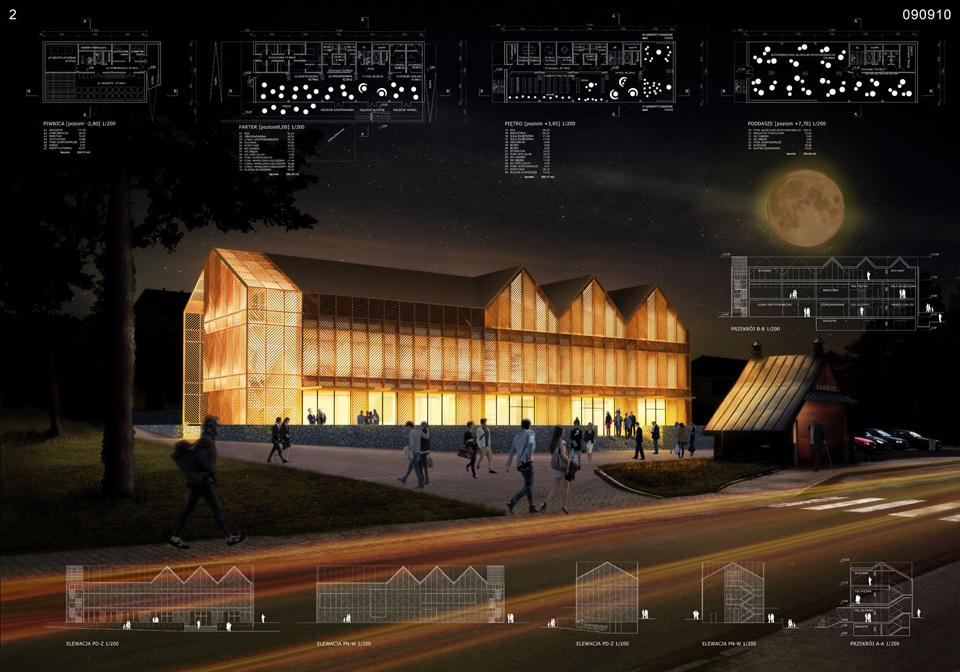 Projekt Centrum Kultury i Tradycji w Iwkowej