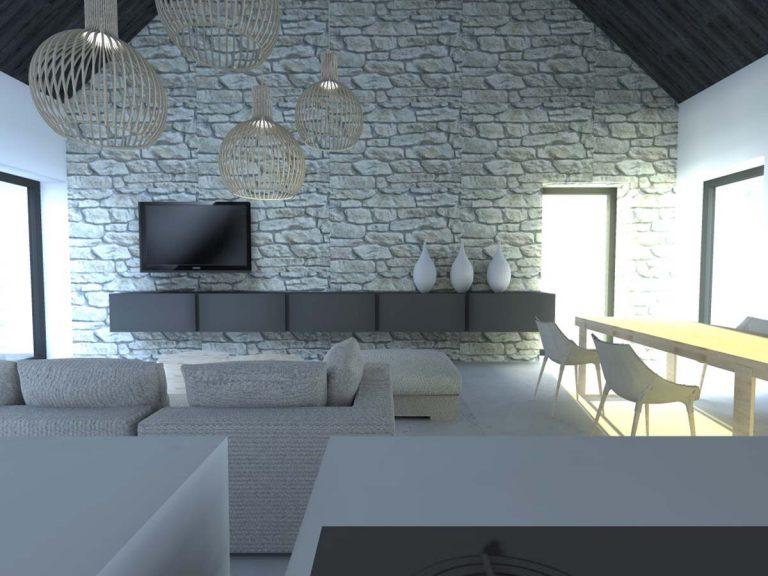 Projekt domu w Niegowonicach - wnętrze