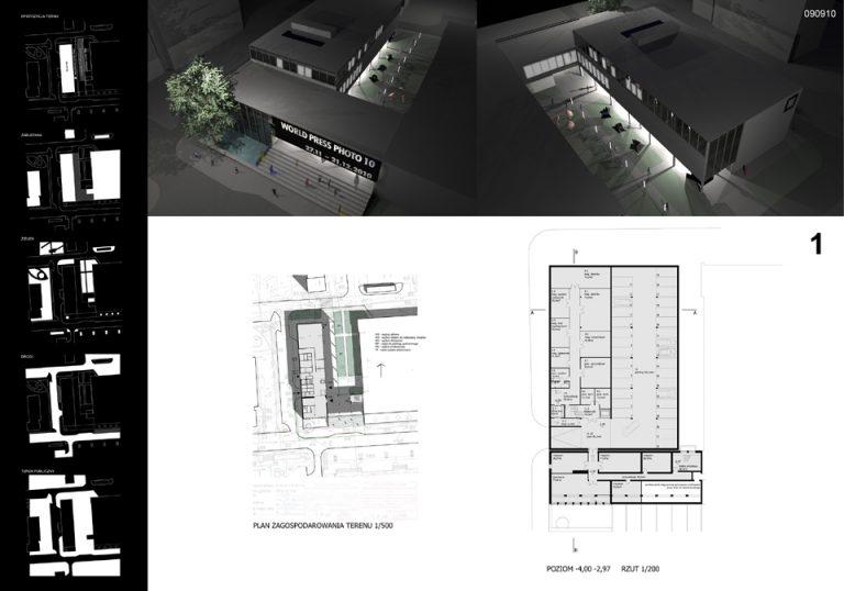 Projekt Galerii Sztuki Współczesnej w Opolu