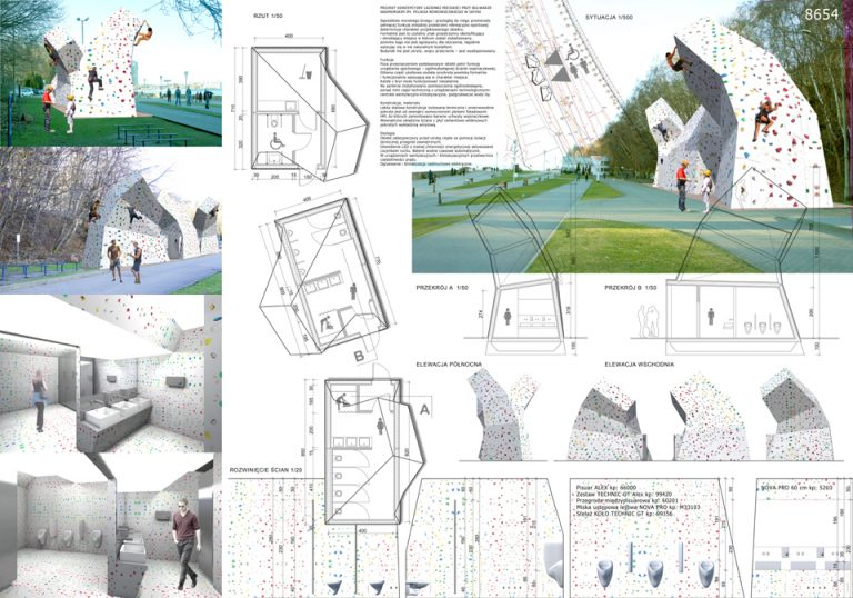 Projekt koncepcyjny toalety publicznej w Gdyni