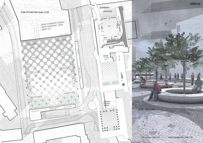 Projekt Placu Mikołaja Kopernika w Opolu
