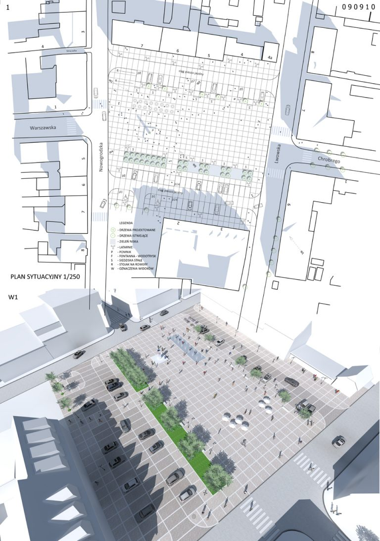 Koncepcji przebudowy Placu Wileńskiego w Drezdenku
