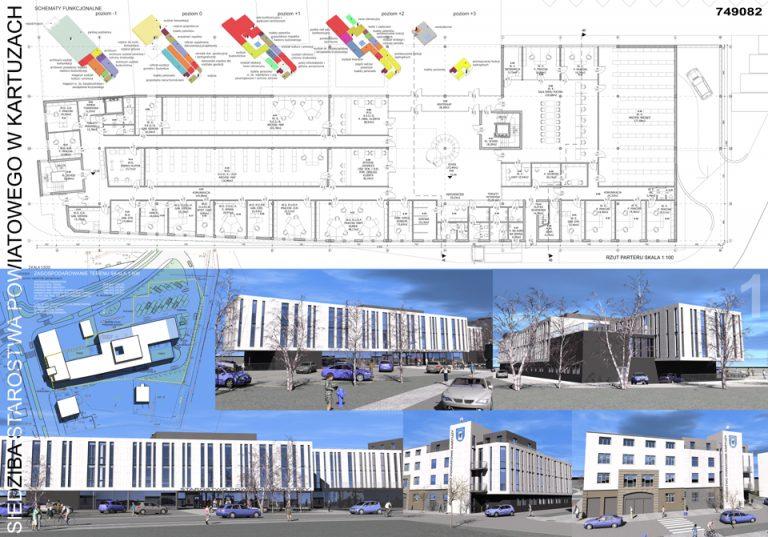 Projekt siedziby starostwa powiatowego - Kartuzy